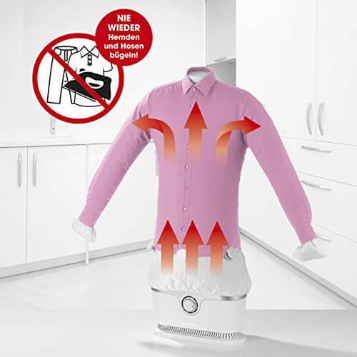CLEANmaxx Bügler für Hemden /& Blusen Höhenverstellung über Teleskopstange